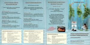 Faltblatt Kräuterwanderg- und workshops 2016 +++ quer